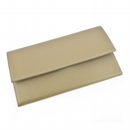Travel Wallet Taupe & Navy